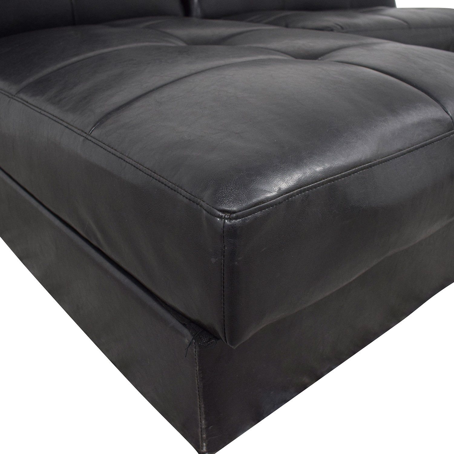 buy Leather Sleeper Sectional with Storage