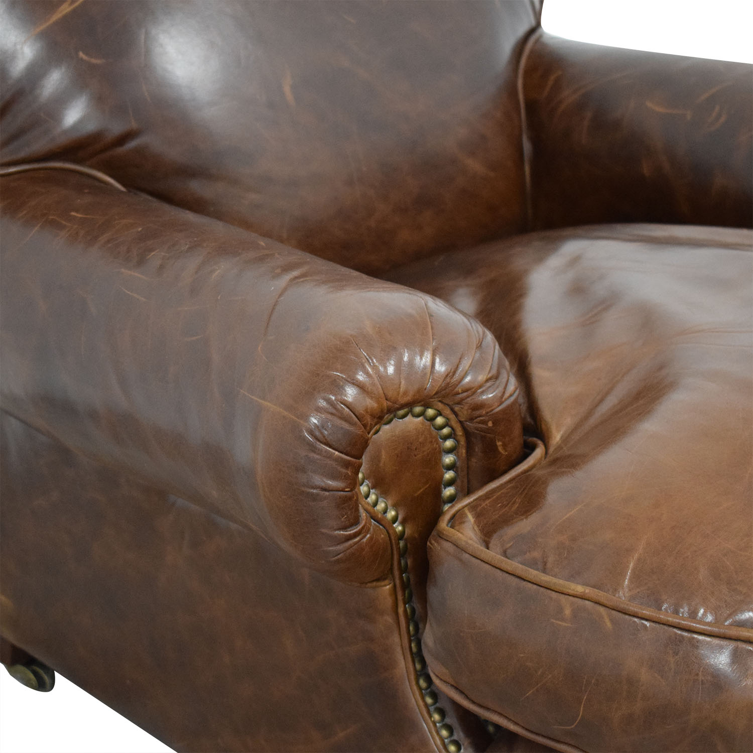 Restoration Hardware Restoration Hardware Library Chair brown