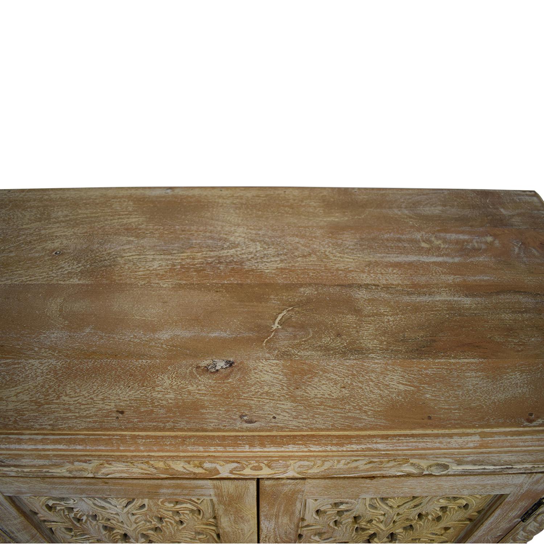 Nadeau Nadeau Carved Wood Cabinet coupon