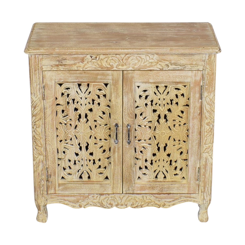 Nadeau Nadeau Carved Wood Cabinet dimensions