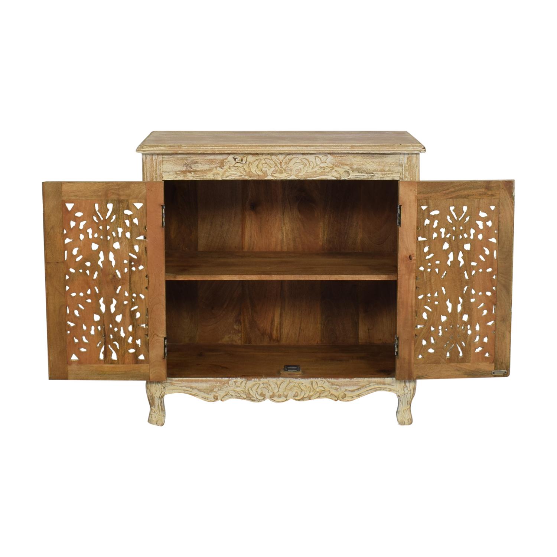 Nadeau Nadeau Carved Wood Cabinet used
