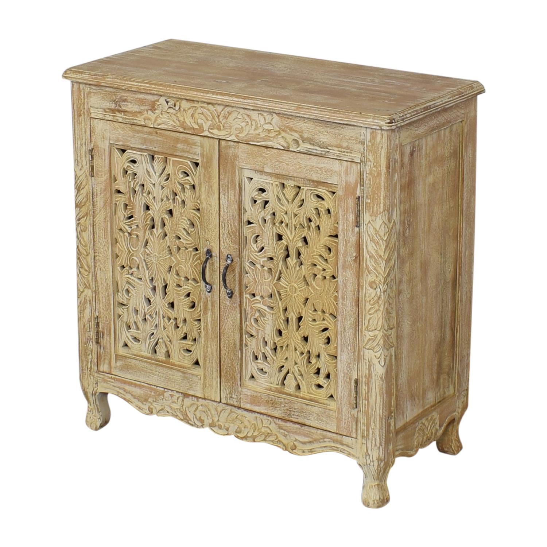 buy Nadeau Carved Wood Cabinet Nadeau Cabinets & Sideboards