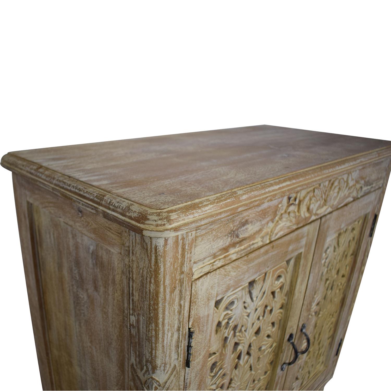 shop Nadeau Carved Wood Cabinet Nadeau