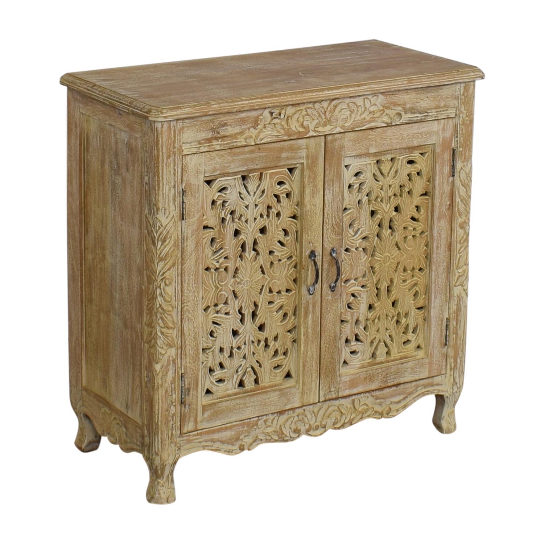 Nadeau Carved Wood Cabinet sale