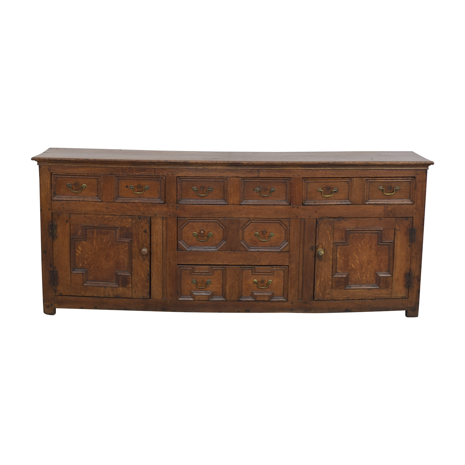 buy Antique Two-Cabinet Console Sideboard  Storage