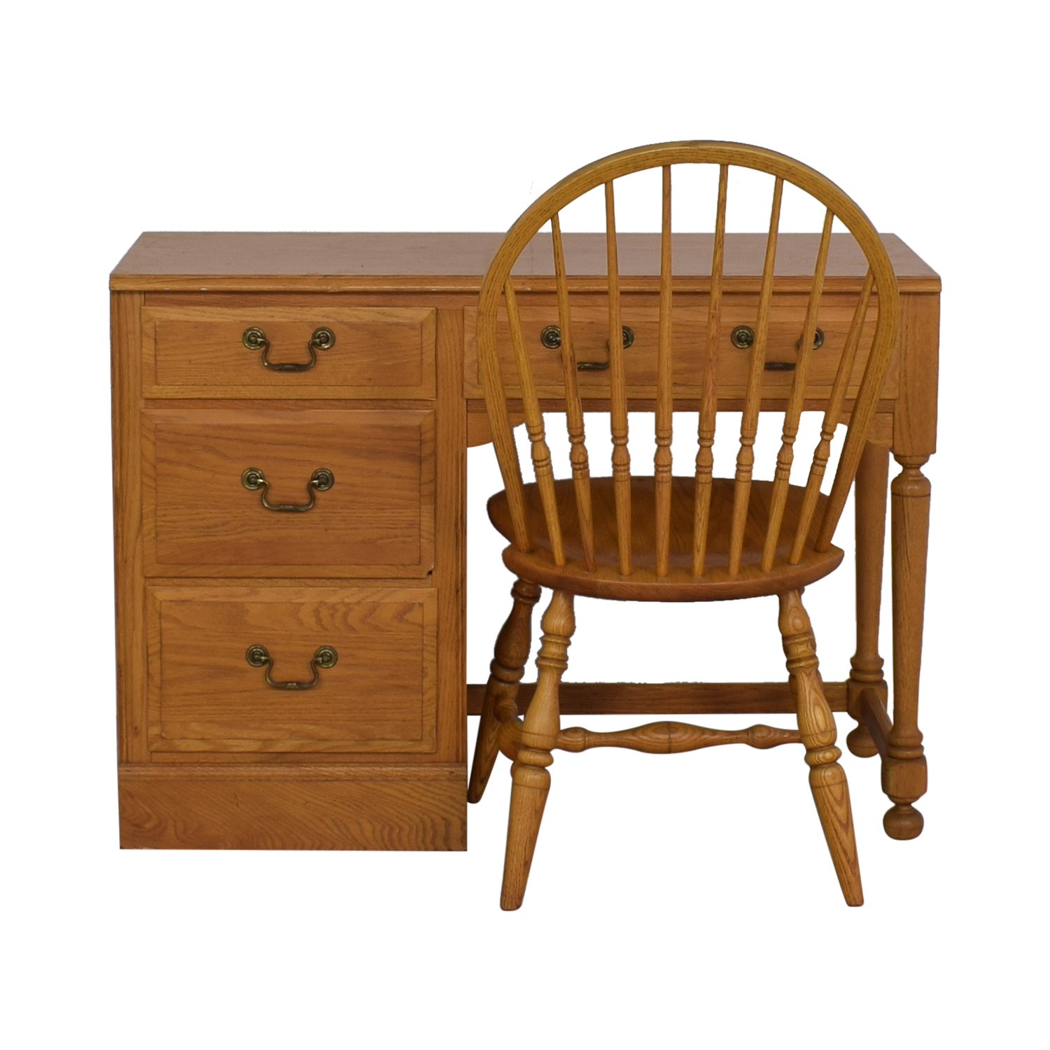 Ethan Allen Ethan Allen Canterbury Chippendale Desk and Chair for sale