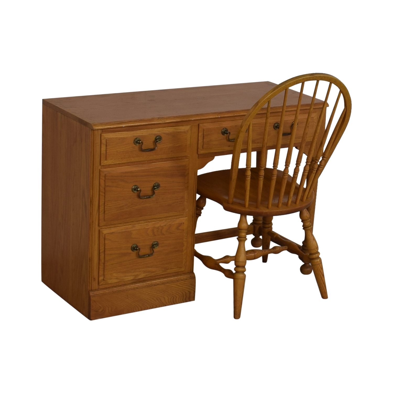 Ethan Allen Ethan Allen Canterbury Chippendale Desk and Chair on sale