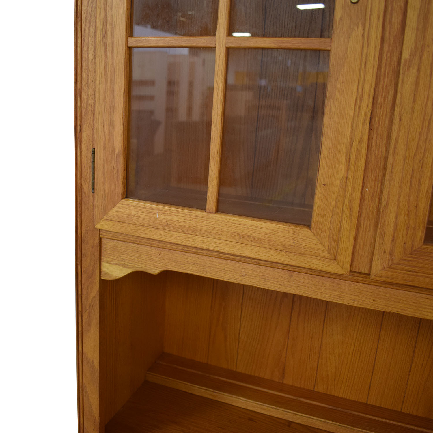 buy Canterbury Oak Chippendale Display Case and Cabinet Ethan Allen Storage