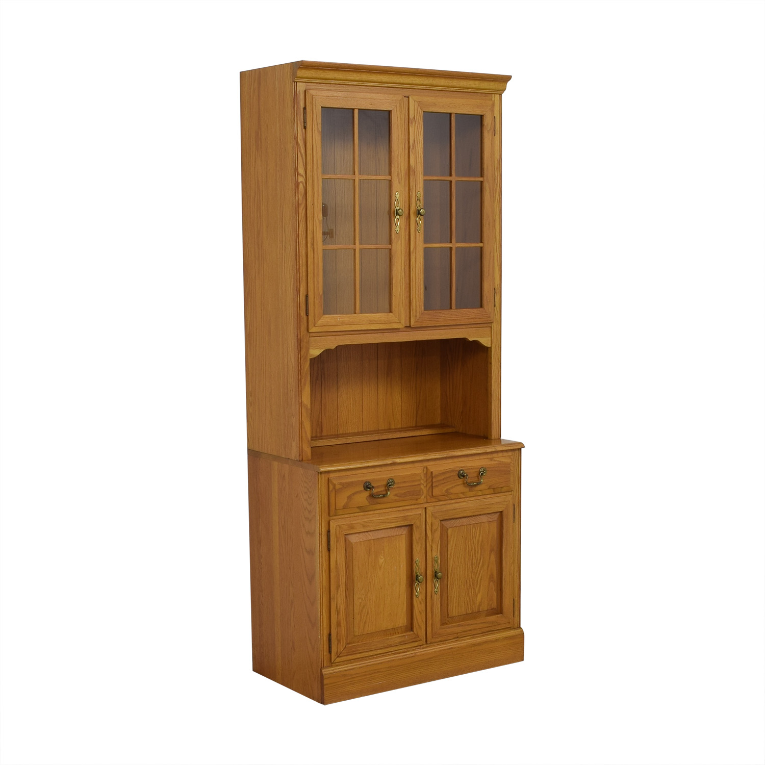 Ethan Allen Canterbury Oak Chippendale Display Case and Cabinet coupon