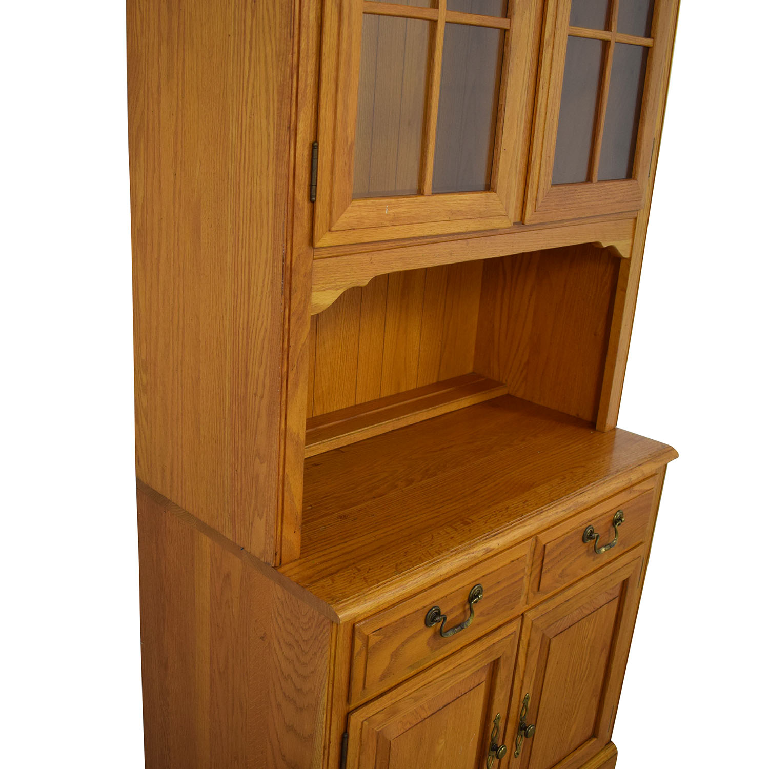 shop Canterbury Oak Chippendale Display Case and Cabinet Ethan Allen Storage