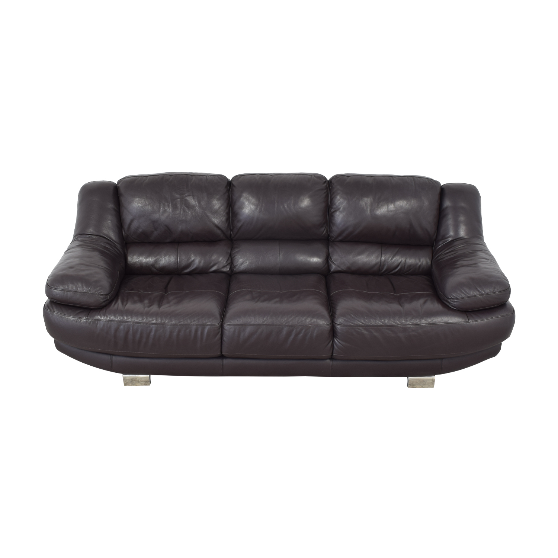 Raymour & Flanigan Leather Sofa / Classic Sofas