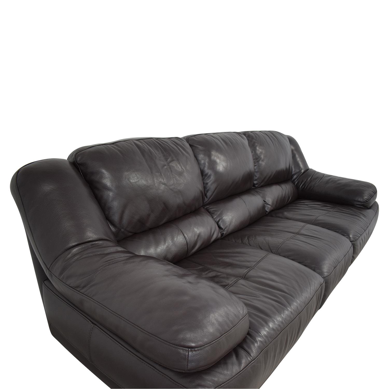 buy Raymour & Flanigan Leather Sofa Raymour & Flanigan