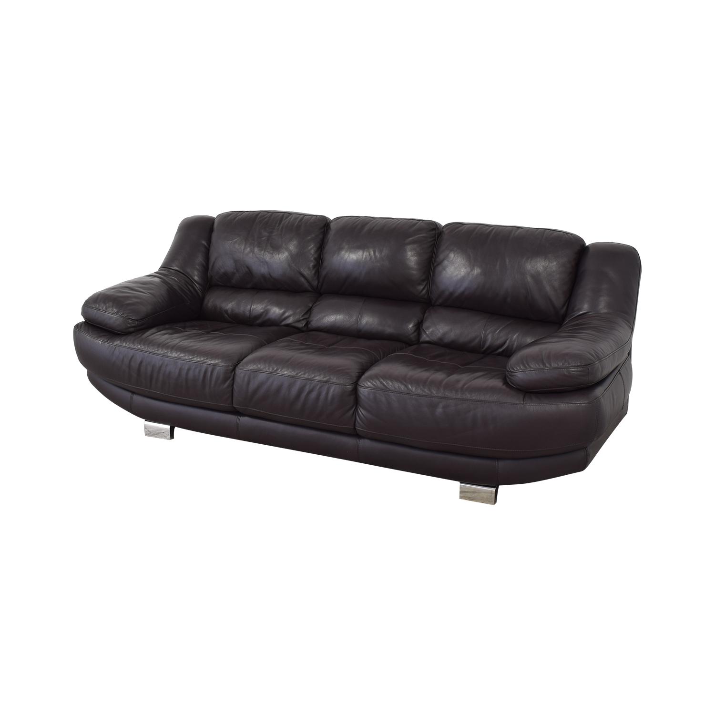 Raymour & Flanigan Raymour & Flanigan Leather Sofa discount