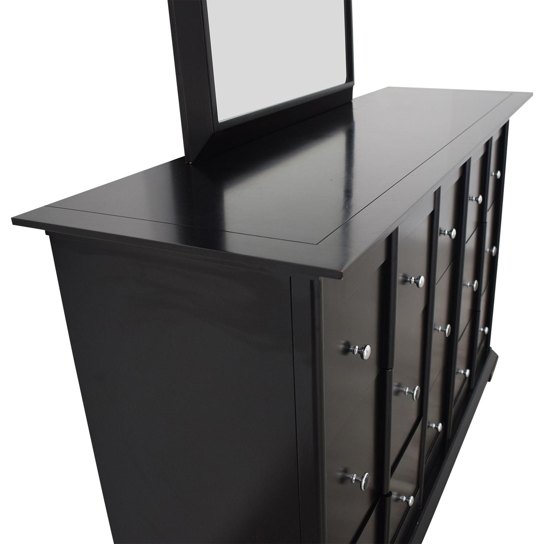 buy Raymour & Flanigan Dresser with Mirror Raymour & Flanigan