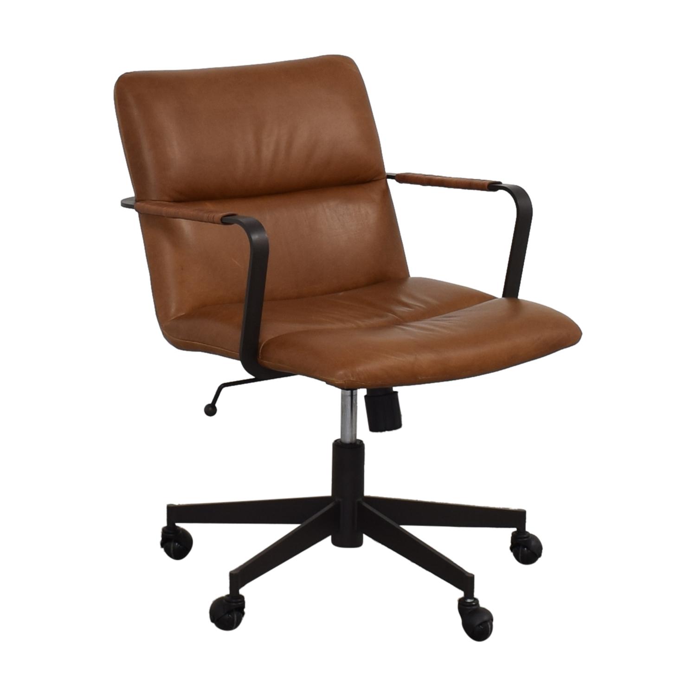West Elm Cooper Mid-Century Swivel Office Chair West Elm