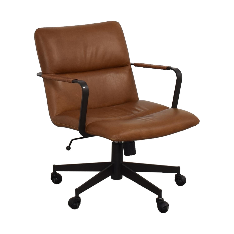 shop West Elm Cooper Mid-Century Swivel Office Chair West Elm