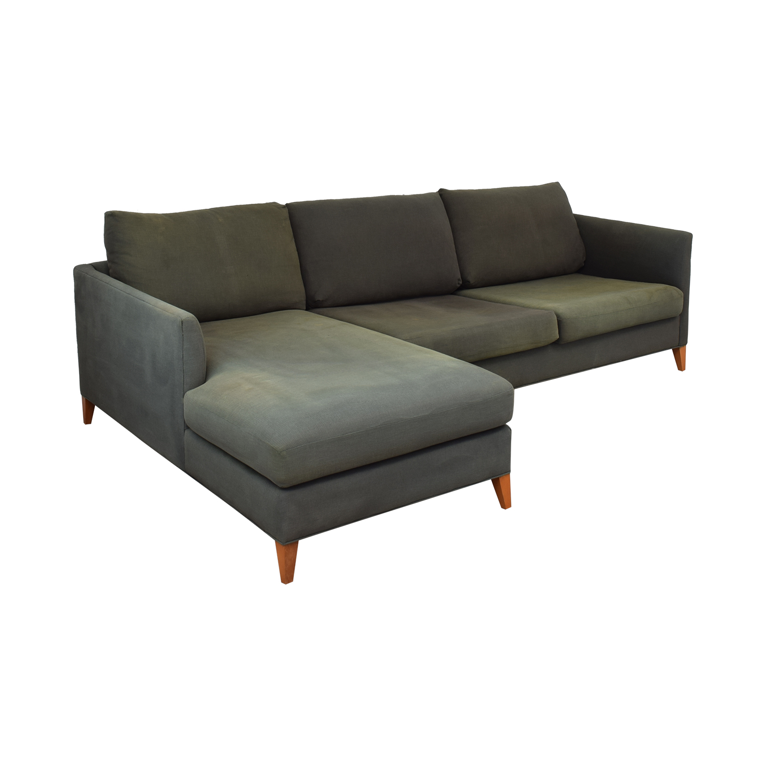 Crate & Barrel Two Piece Sectional with Chaise Crate & Barrel