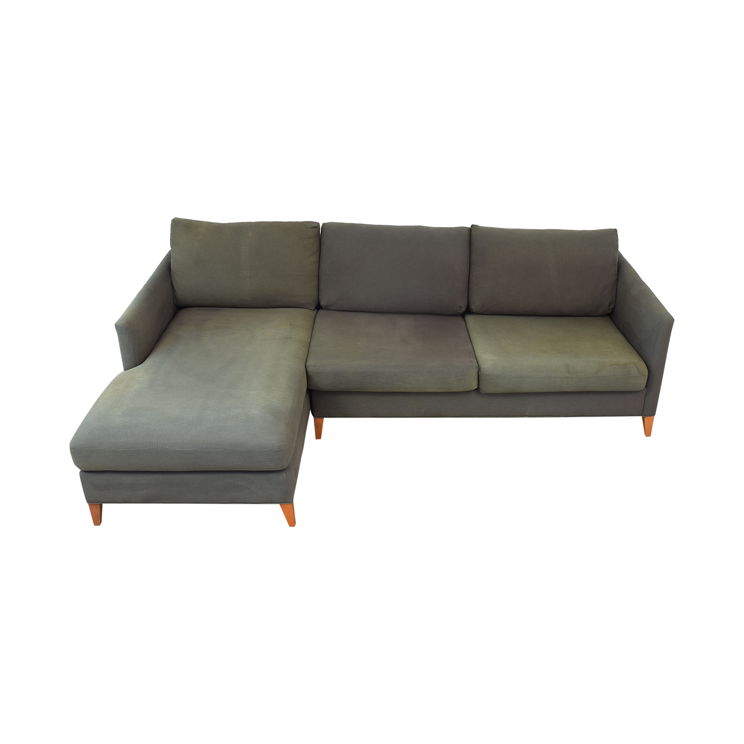 Crate & Barrel Crate & Barrel Two Piece Sectional with Chaise second hand