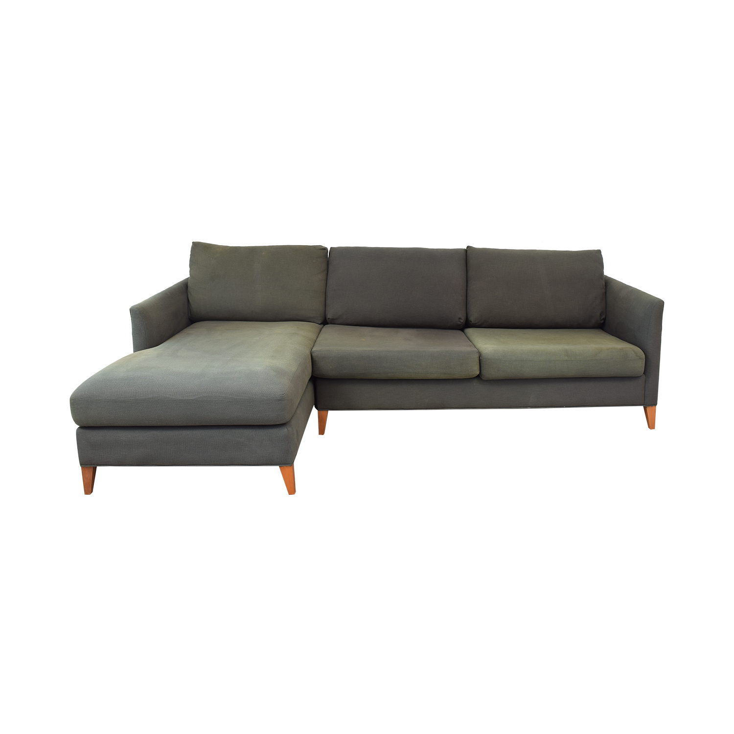 shop Crate & Barrel Two Piece Sectional with Chaise Crate & Barrel Sectionals