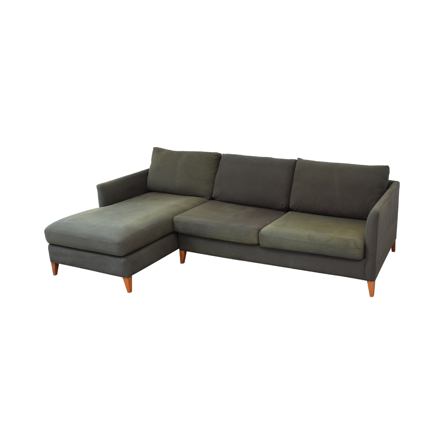 Crate & Barrel Crate & Barrel Two Piece Sectional with Chaise for sale