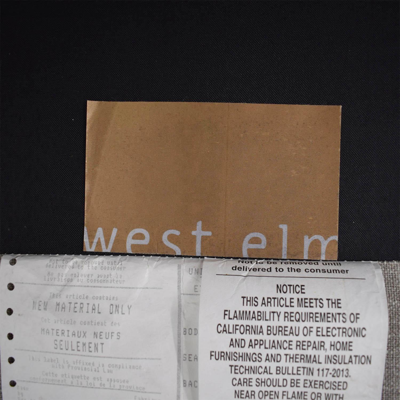 West Elm West Elm Urban Sectional Sofa grey