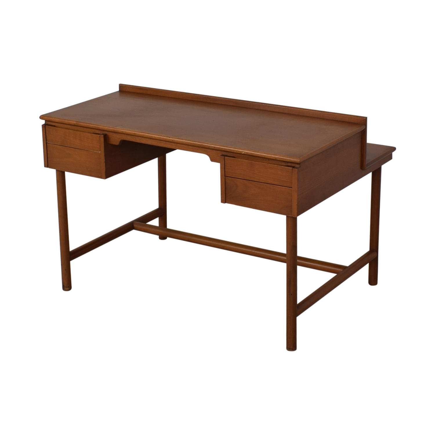 Grand Rapids Bookcase and Chair Co. Grand Rapids Bookcase and Chair Co Mid-Century Walnut Desk Tables