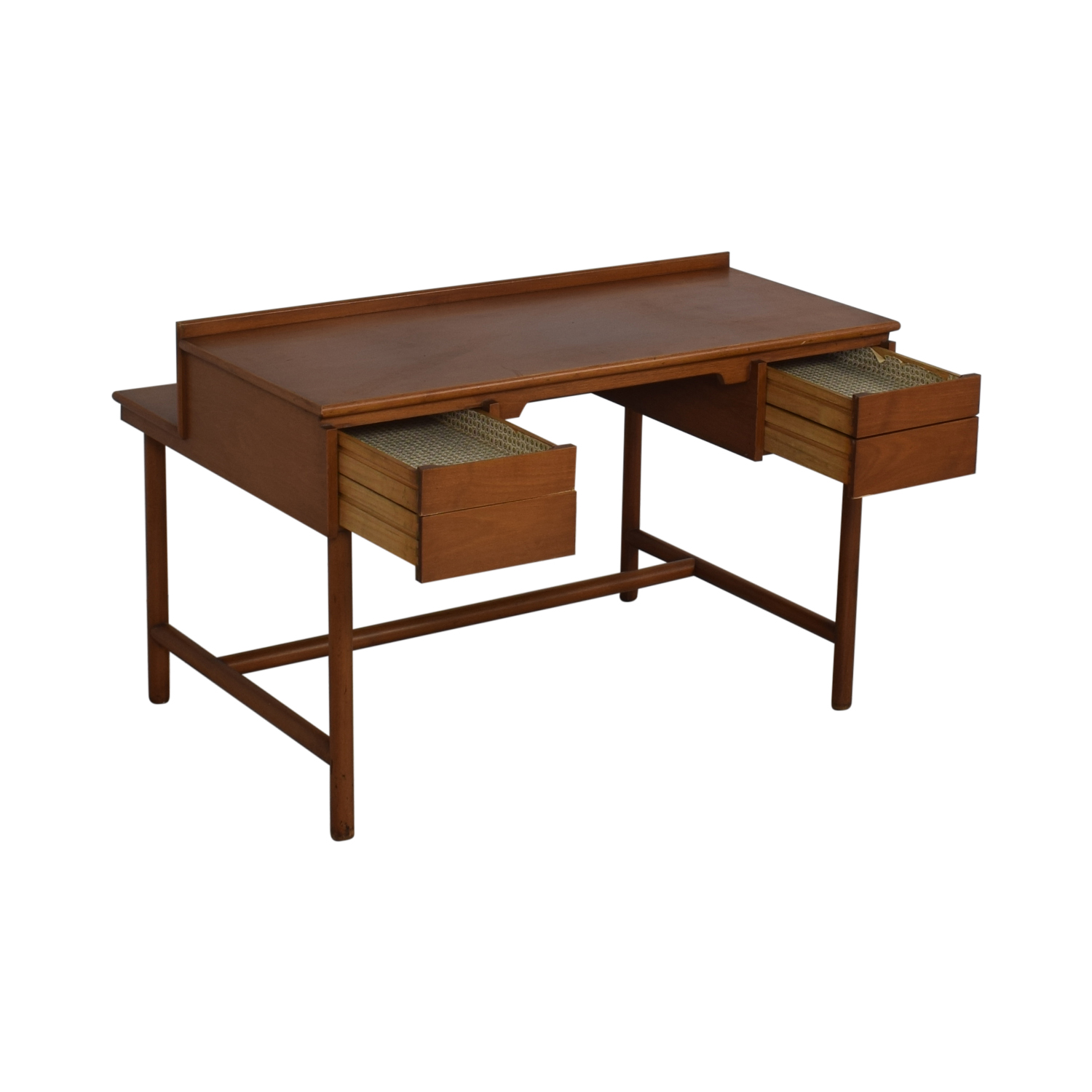 88 Off Grand Rapids Bookcase And Chair Co Mid Century Walnut Desk Tables