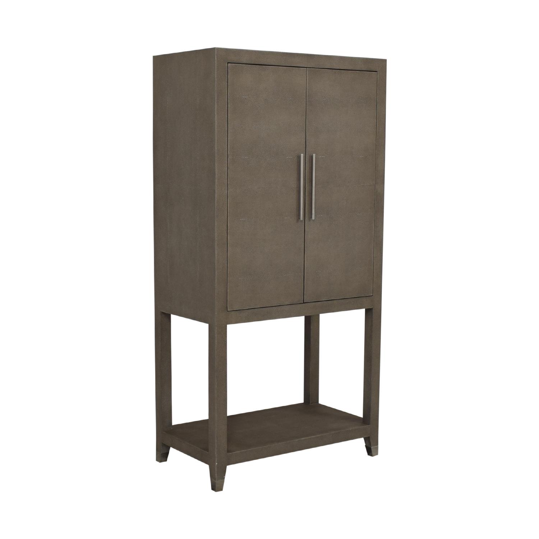 shop Restoration Hardware Graydon Shagreen Bar Cabinet Restoration Hardware Storage