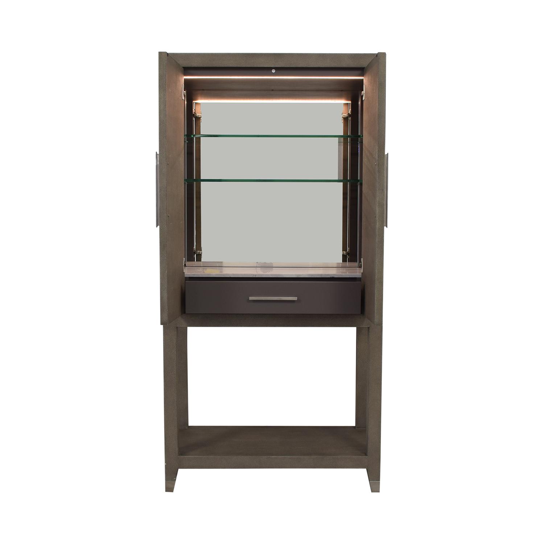 shop Restoration Hardware Restoration Hardware Graydon Shagreen Bar Cabinet online