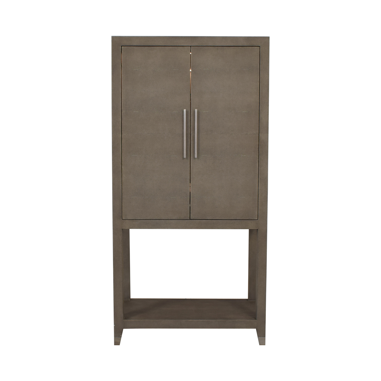 buy Restoration Hardware Graydon Shagreen Bar Cabinet Restoration Hardware Storage