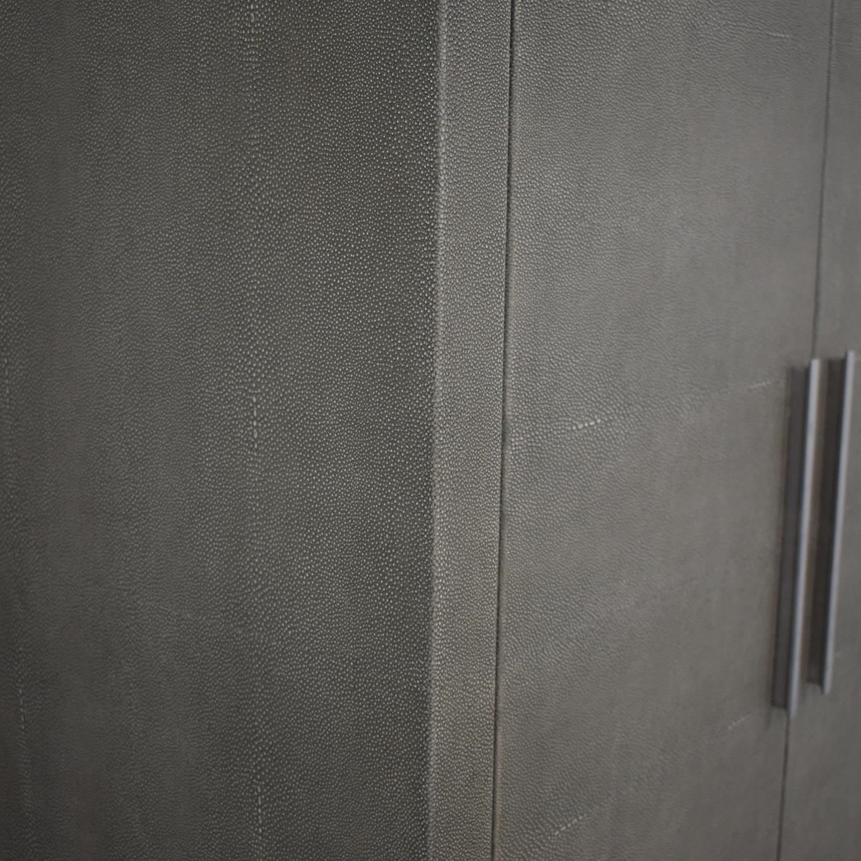 buy Restoration Hardware Graydon Shagreen Bar Cabinet Restoration Hardware Storage