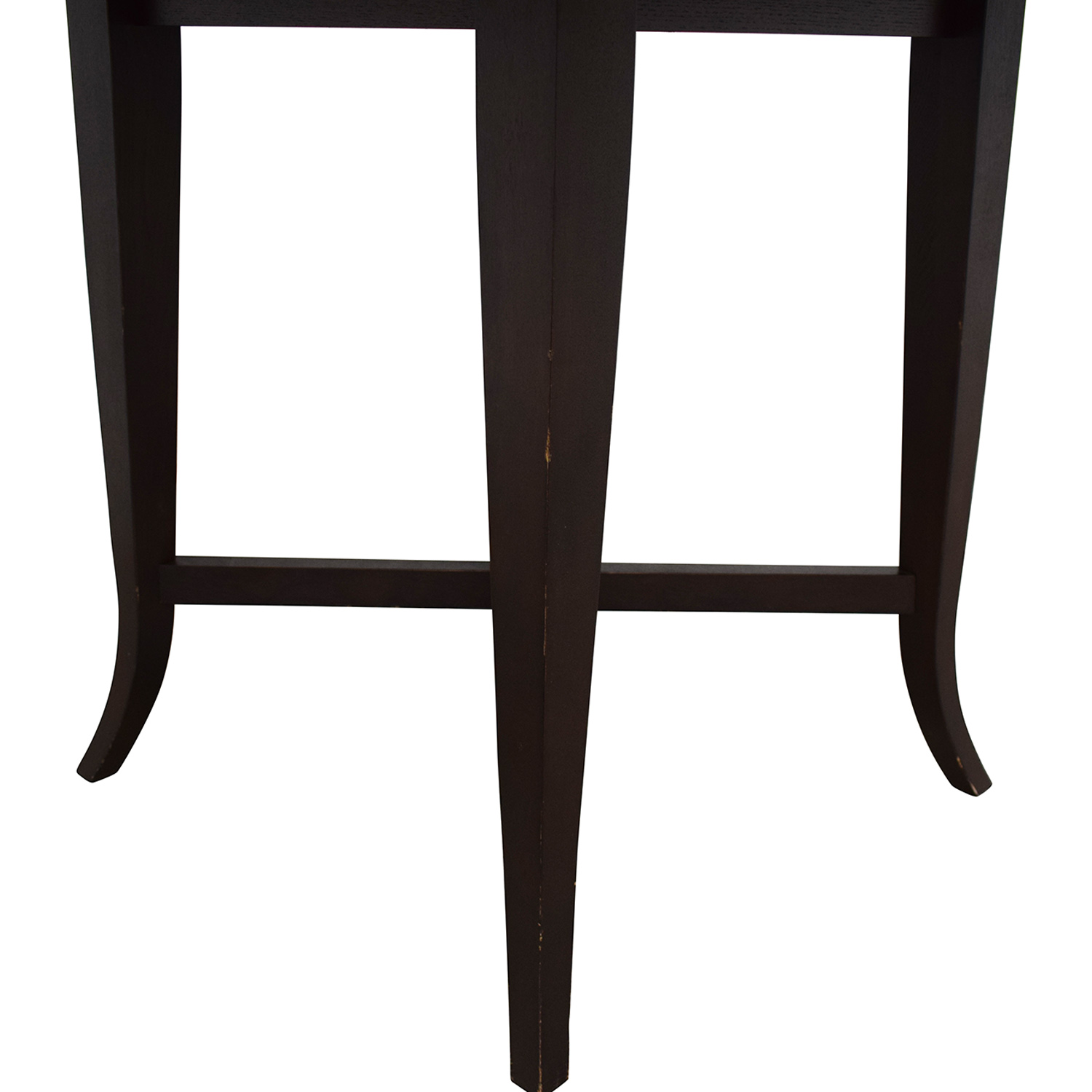 Crate & Barrel Crate & Barrel Round Dining Table dark brown