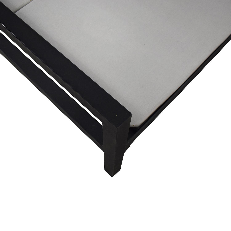 Room & Board Parsons Natural Steel Full Bed Frame Room & Board