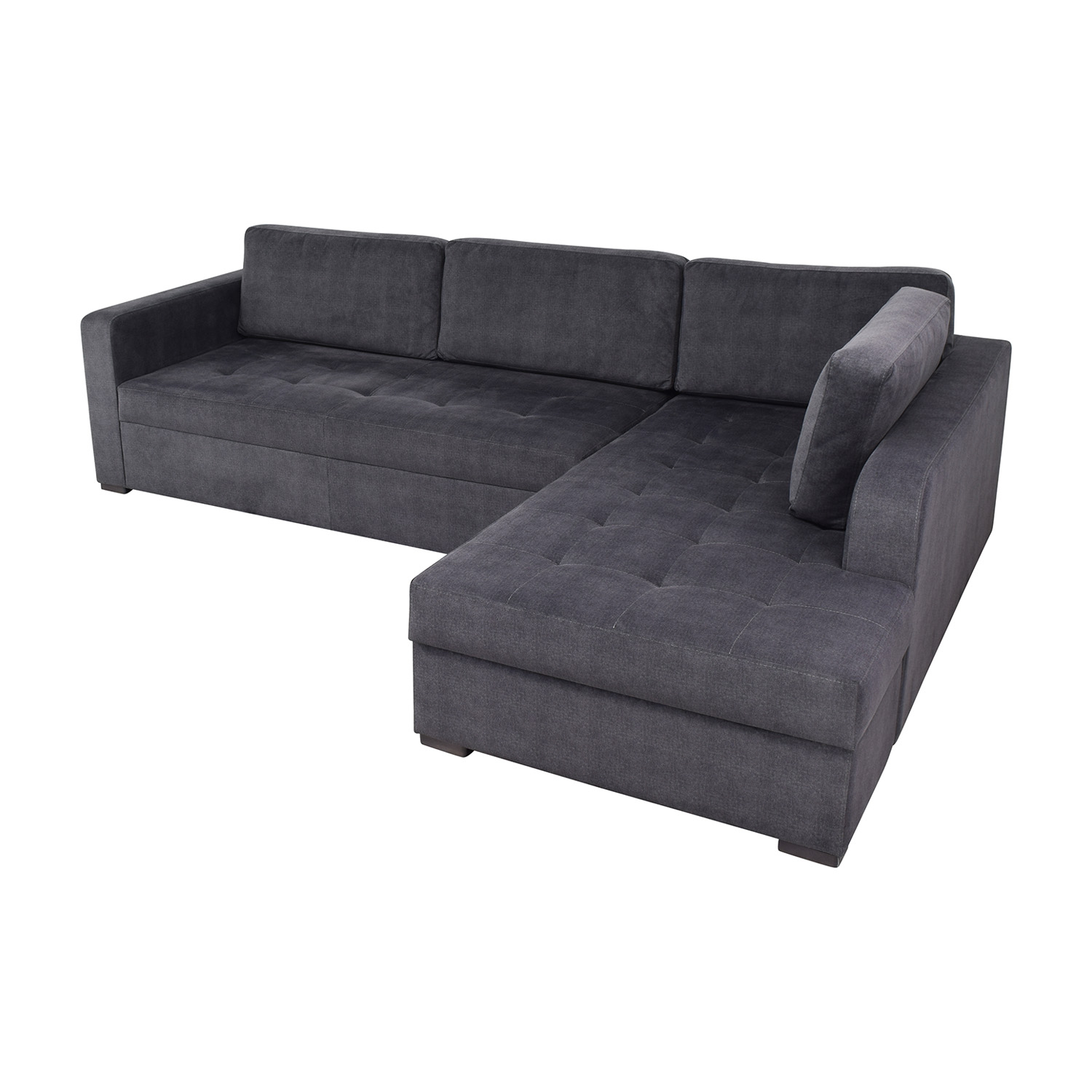 66% OFF - Lazzoni Lazzoni Vetro Chaise Sleeper Sofa with Storage / Sofas