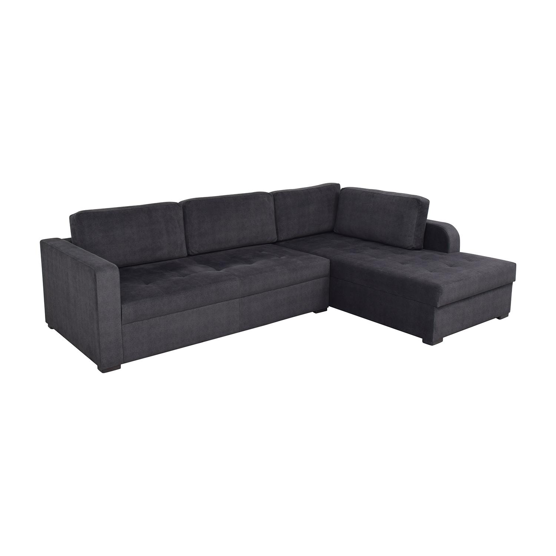 buy Lazzoni Vetro Chaise Sleeper Sofa with Storage Lazzoni