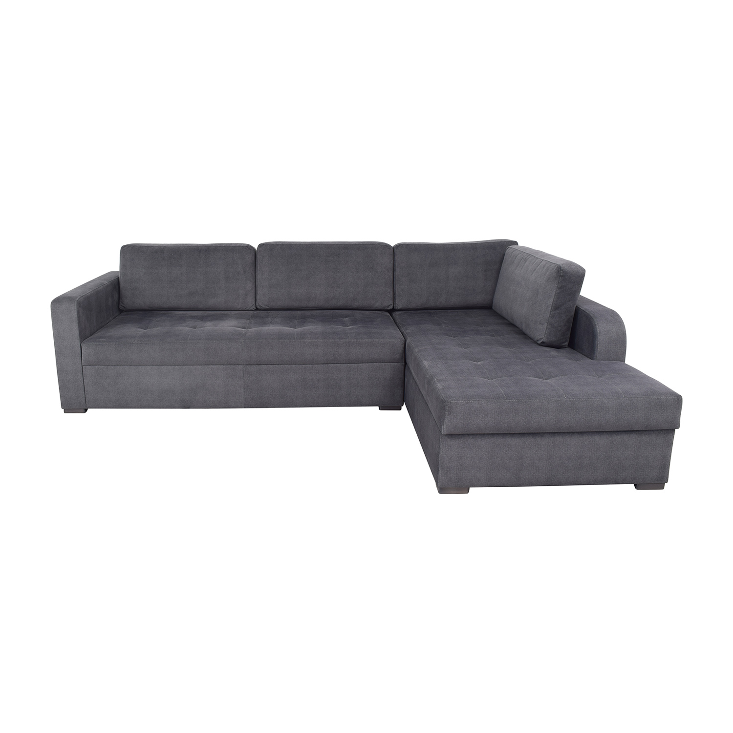 Lazzoni Vetro Chaise Sleeper Sofa with Storage / Sofas
