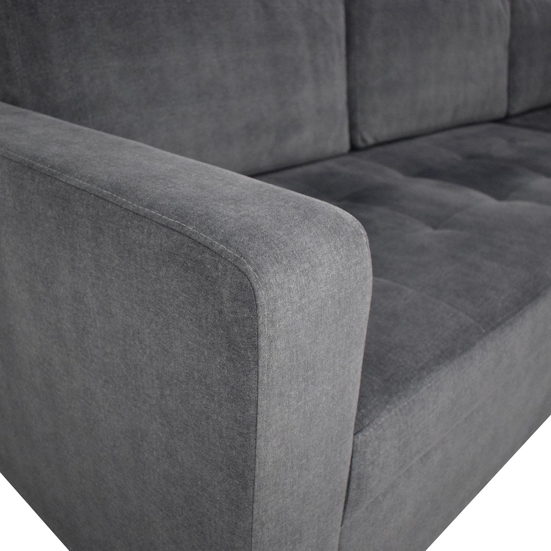 shop Lazzoni Vetro Chaise Sleeper Sofa with Storage Lazzoni