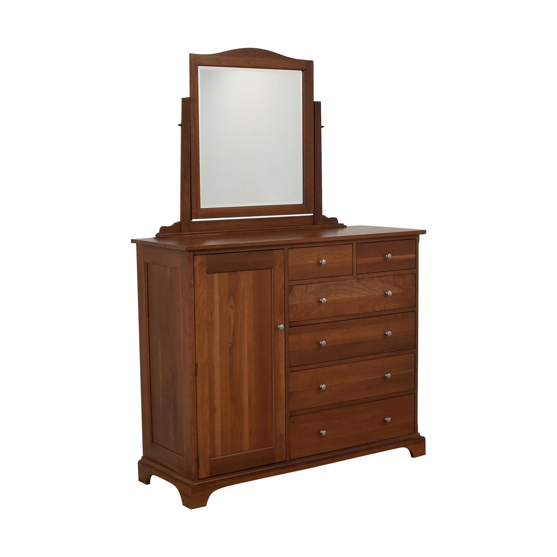 shop Durham Furniture Cabinet Dresser with Mirror Durham Furniture Dressers