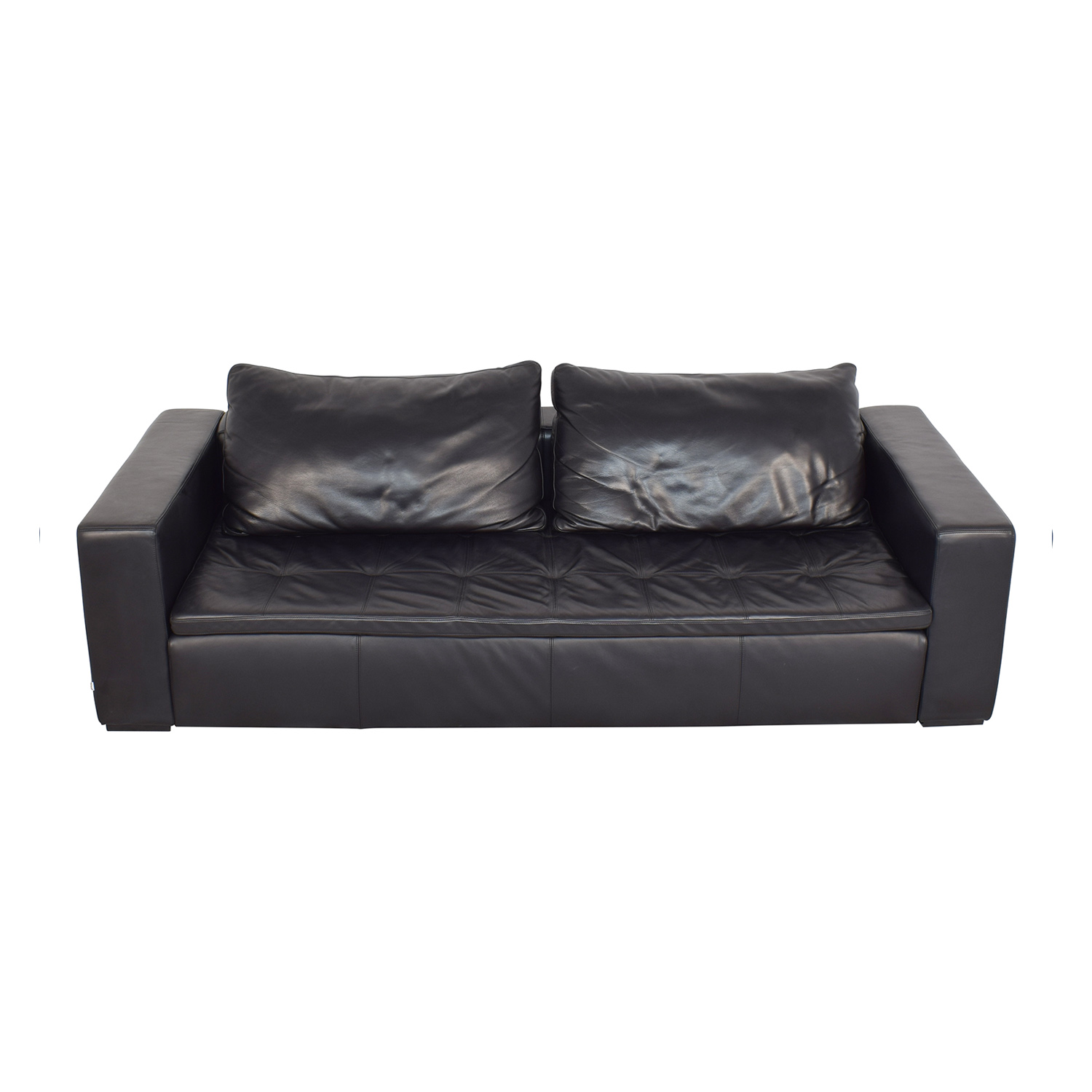 83% OFF - BoConcept BoConcept Mezzo Black Leather Sofa / Sofas