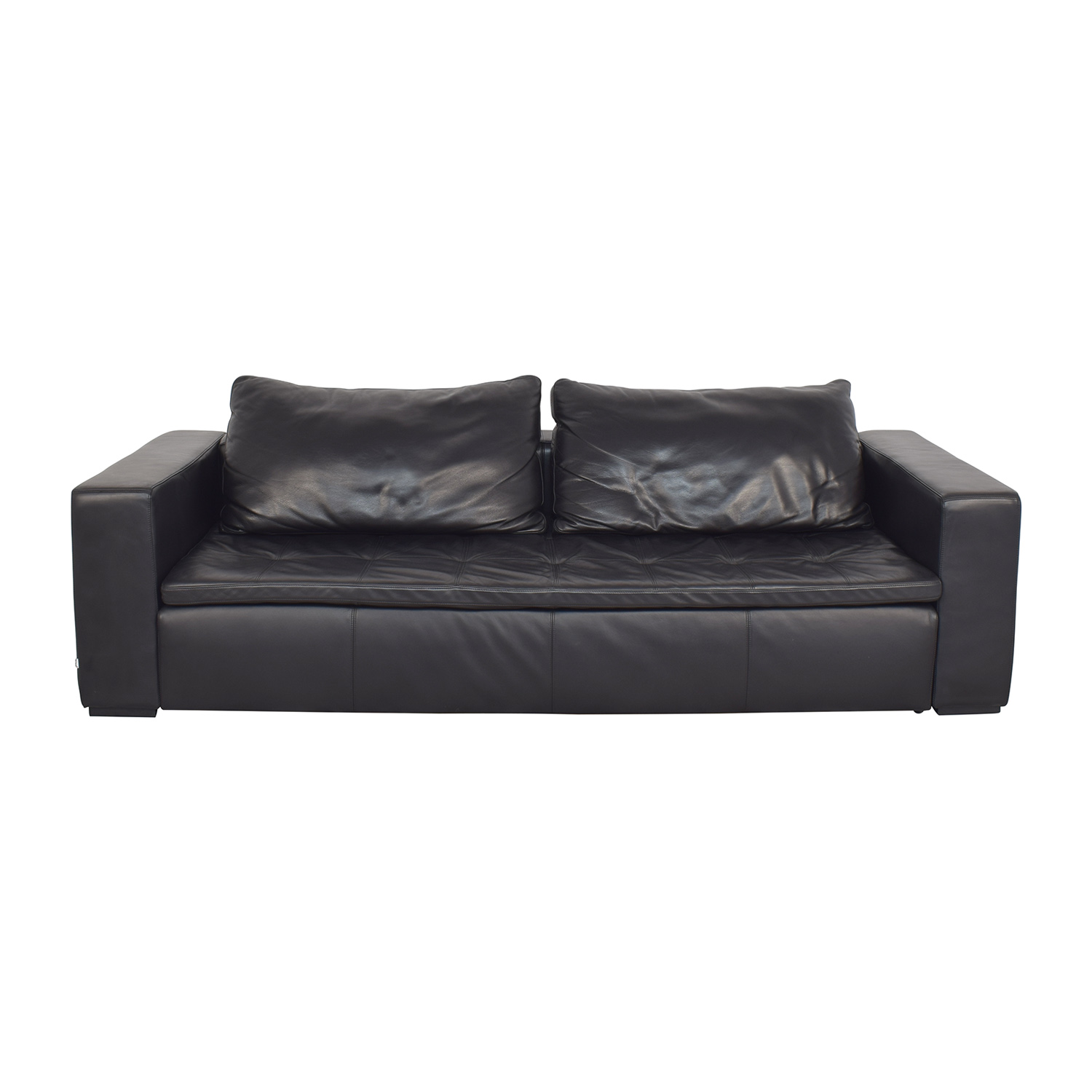 BoConcept BoConcept Mezzo Black Leather Sofa on sale