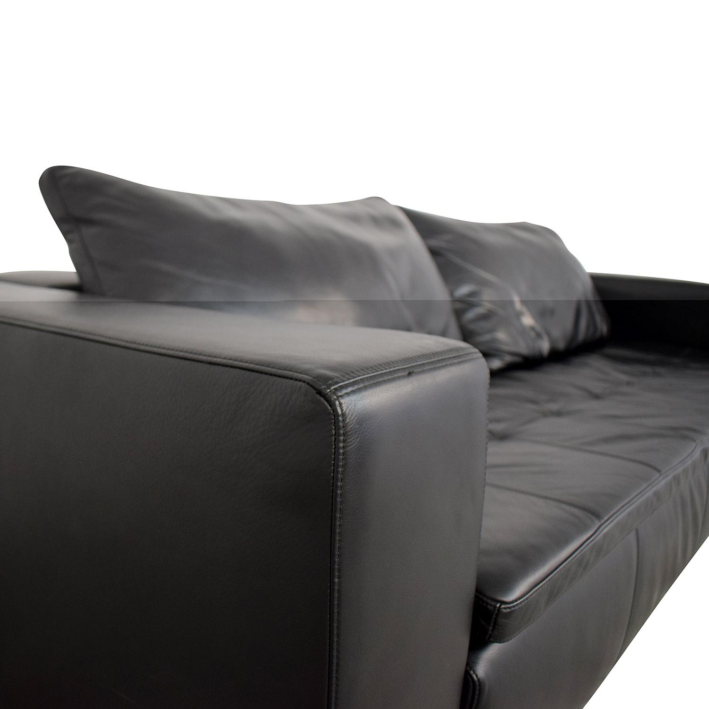 buy BoConcept BoConcept Mezzo Black Leather Sofa online