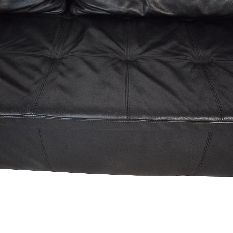 BoConcept BoConcept Mezzo Black Leather Sofa Classic Sofas