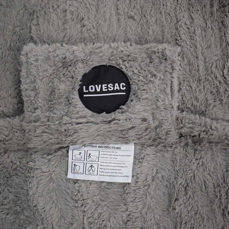 Lovesac Lovesac Giant Bean Bag Chair grey