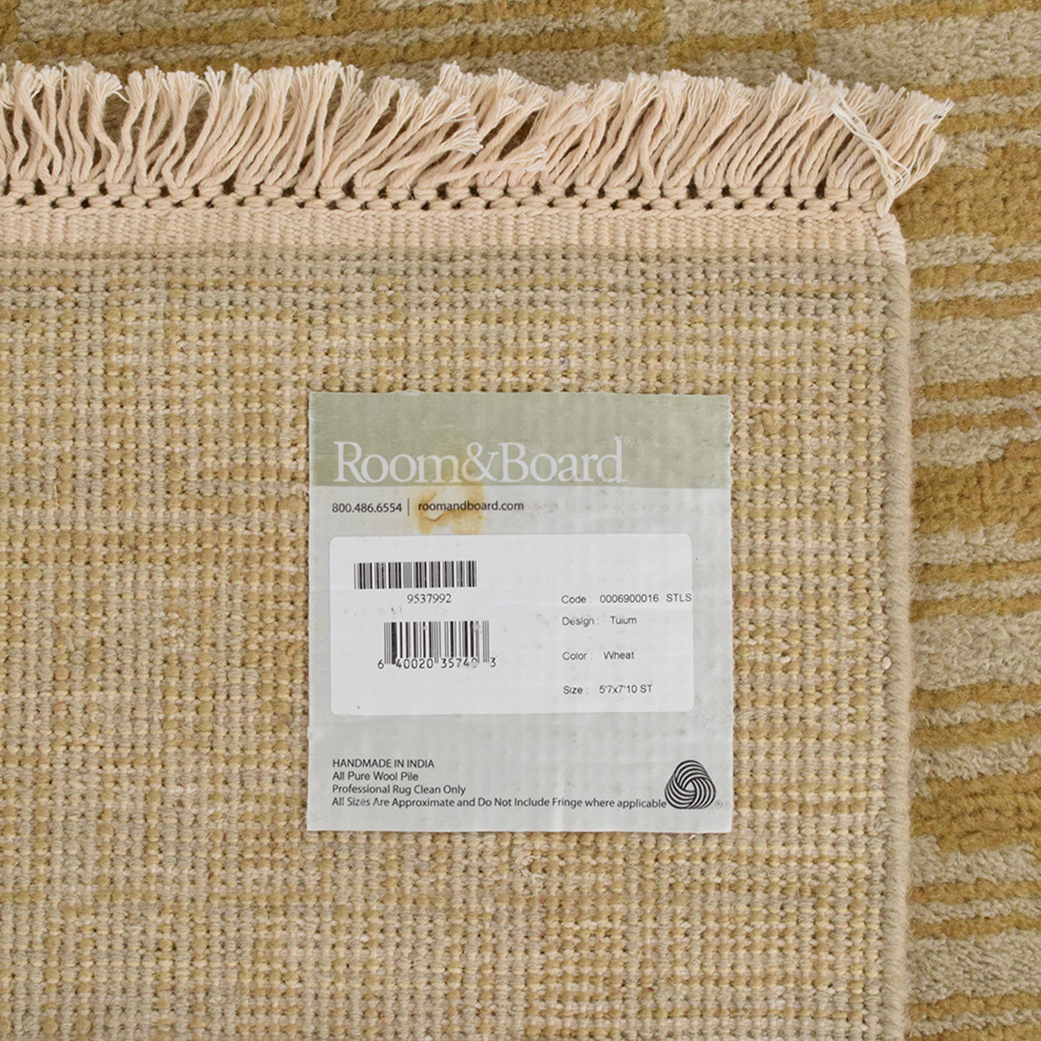 Room & Board Room & Board Tulum Hand Knotted Rug price