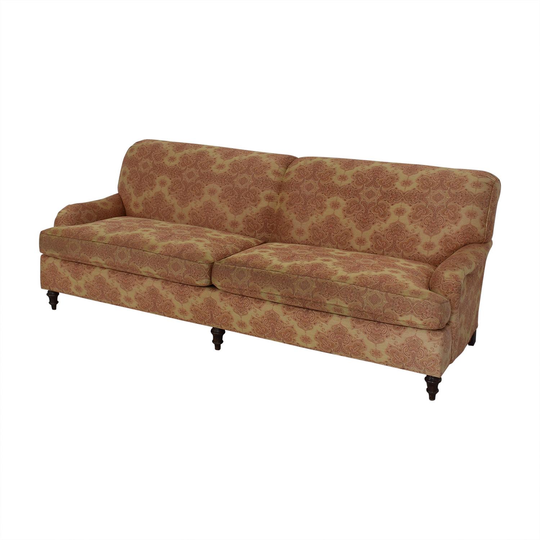 Stickley Furniture Stickley Furniture Patterned Upholstered Sofa discount