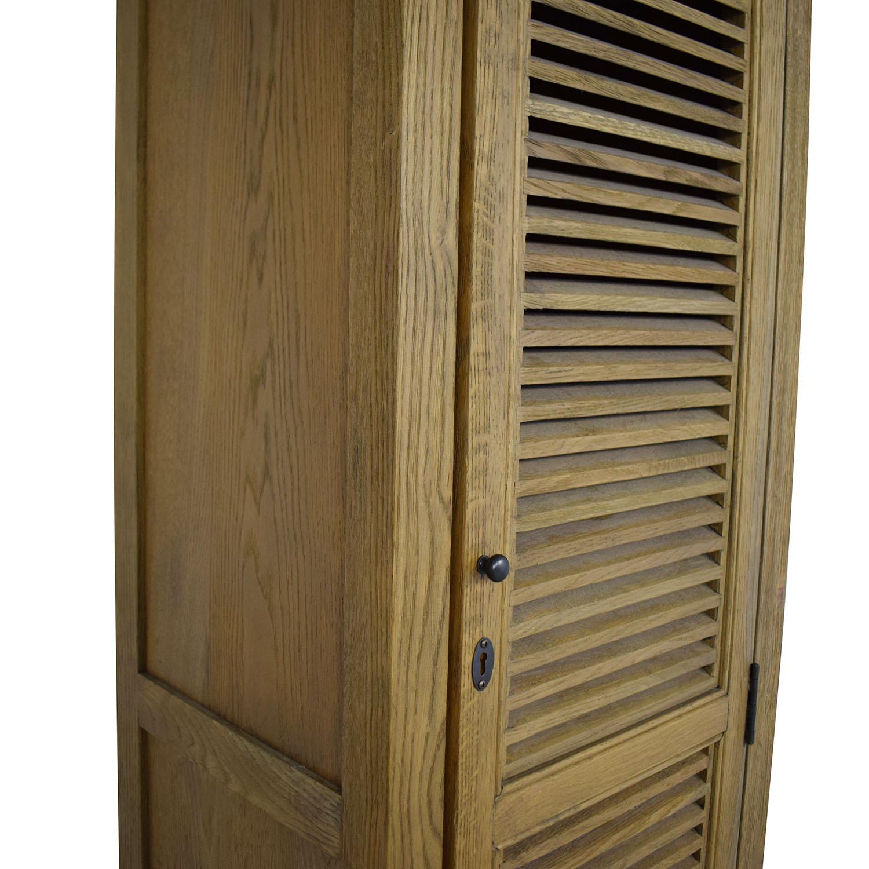 Restoration Hardware Restoration Hardware Shutter Tall Bath Cabinet Storage
