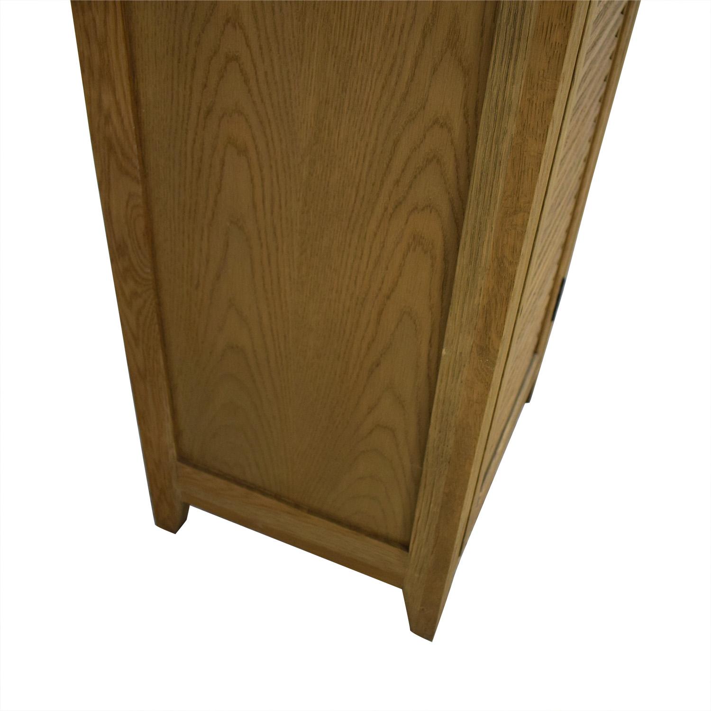 buy Restoration Hardware Shutter Tall Bath Cabinet Restoration Hardware