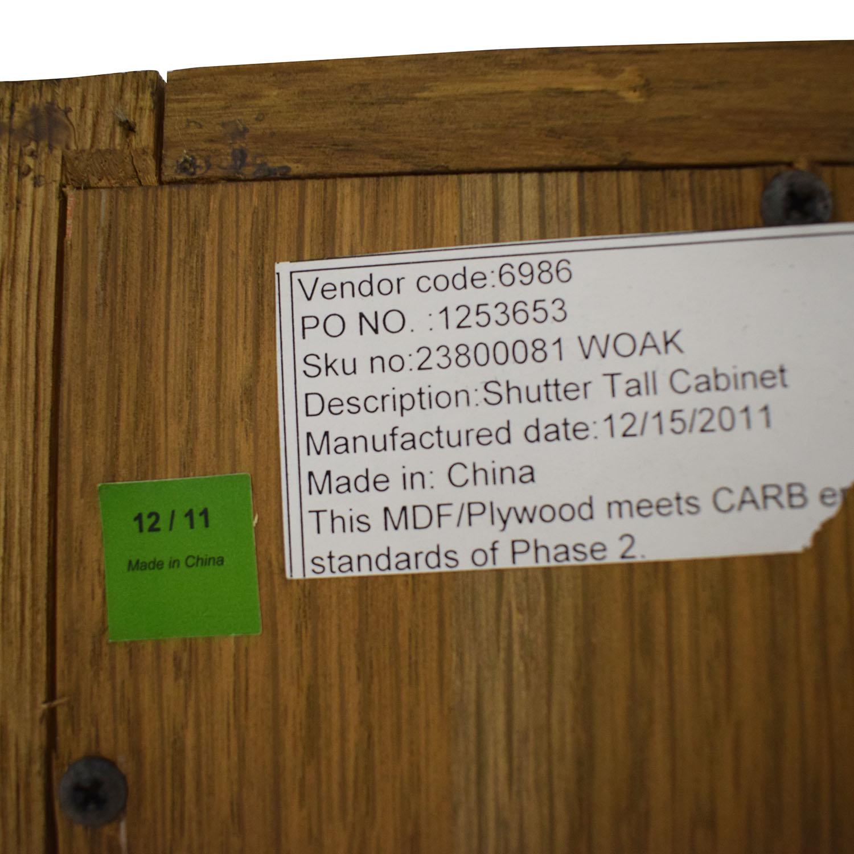Restoration Hardware Restoration Hardware Shutter Tall Bath Cabinet on sale
