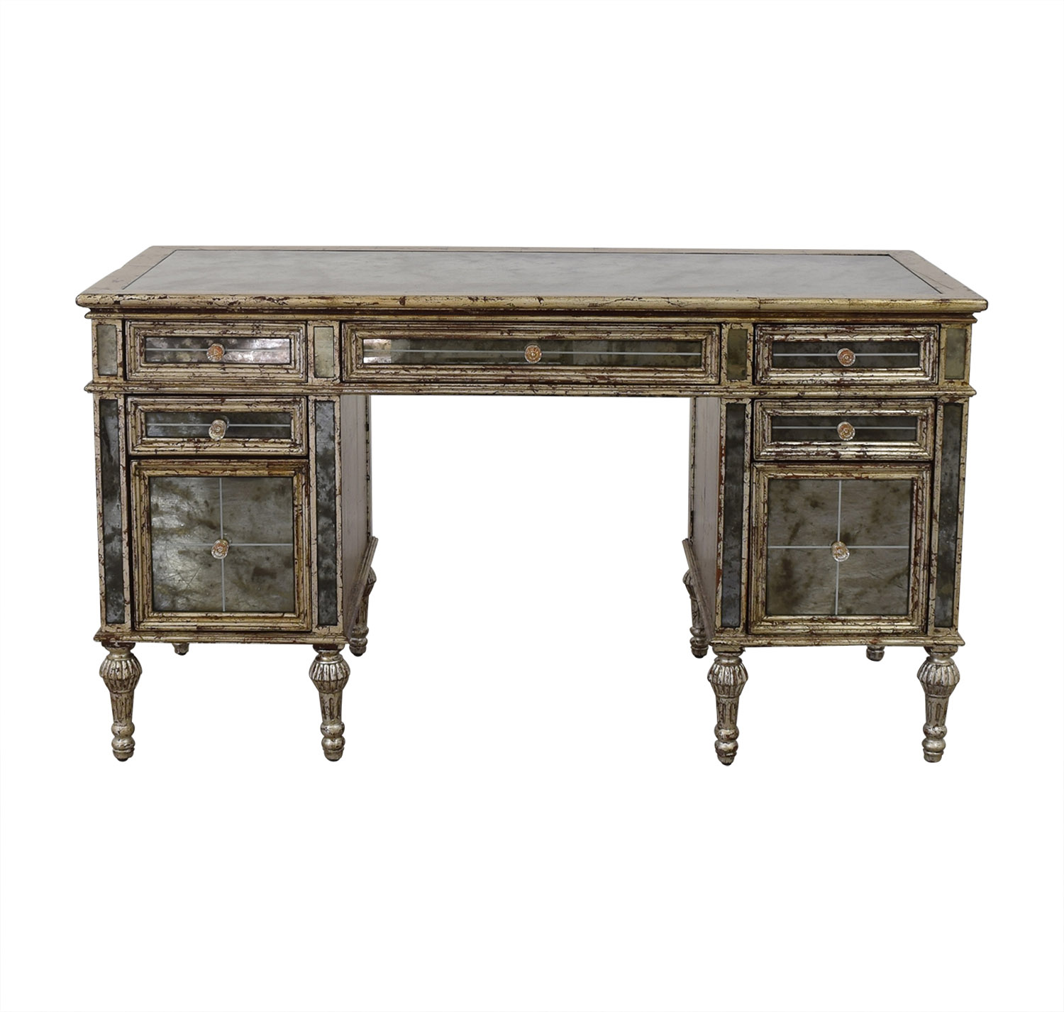 Horchow Horchow Sheridan Mirrored Desk Tables