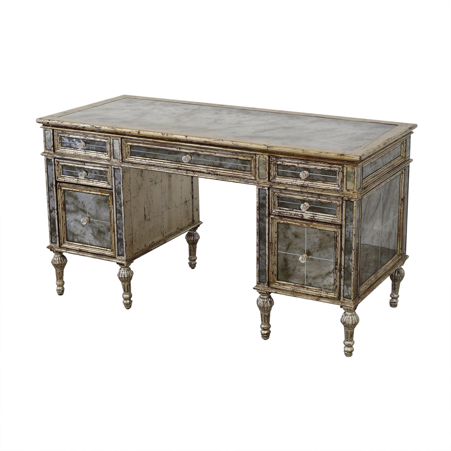 Horchow Sheridan Mirrored Desk sale